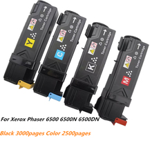 цена на New Toner Cartridges For Xerox Phaser 6500 6500N 6500DN WorkCentre 6505 6505N 6505DN 106R01604 106R01601 106R01602 106R01603