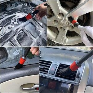 Image 5 - 8Pcs Rad Reifen Reinigung Pinsel Kit 17 zoll Lange Weiche Rad Pinsel 5 Detaillierung Pinsel Kurzen Griff Reifen Pinsel und Mikrofaser Tuch
