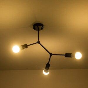 Image 3 - מודרני LED תקרת נברשת תאורת סלון חדר שינה מולקולרי נברשות מרובה ראשי Creative בית גופי תאורה