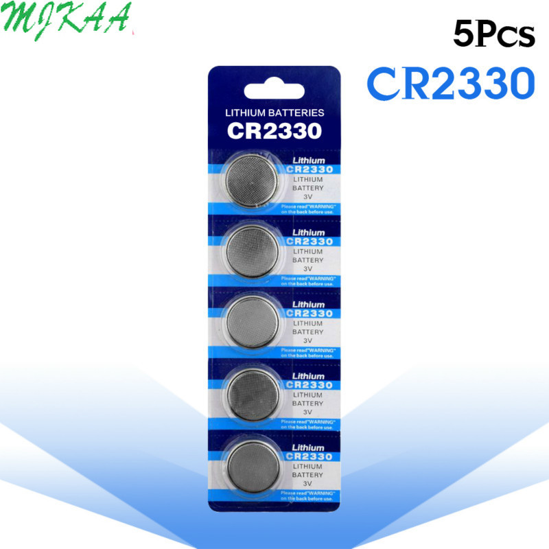 5pcs/pack Cr2330 BR2330 ECR2330 Button Cell Coin Li-ion Battery 3V CR 2330 For Watch Electronic Toy Remote image