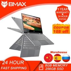 Bmax y11 portátil 11.6 Polegada quad core n4120 1920*1080 ips tela 8gb lpddr4 ram 256gb ssd rom notebook windows10 sistema