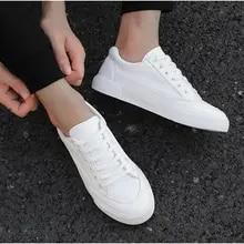 2021 novos sapatos de lona branca tendência tênis de plataforma casual masculino simples respirável sapatos de tênis planos