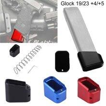 Магазин удлинитель glock 19/23 + 4/5 пружина из алюминия основа