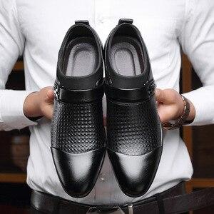 Image 2 - REETENE 2019 Đầm Giày Cưới Giày Da Ý Mũi Nhọn Nam Đầm Giày Tiệc Cưới Giày Nam Oxfords