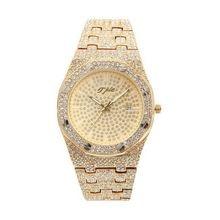 Часы наручные мужские с бриллиантами повседневные Водонепроницаемые