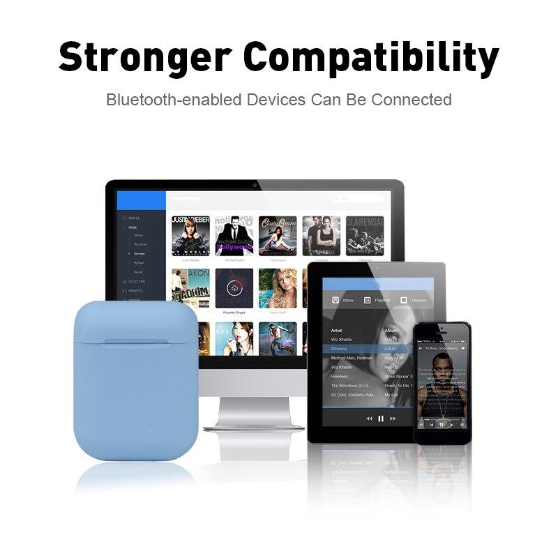 I12 Tws Bluetooth наушники беспроводные наушники Hands Free Спортивная Музыка для всех смартфонов скраб на ощупь 3D стерео объемный звук