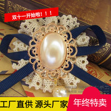 Yuan Yuan Handmade Handmade Brooch Women's Korean Style Retro Lace Pearl Pendant Sweater T-shirt Small Suit Corsage(China)
