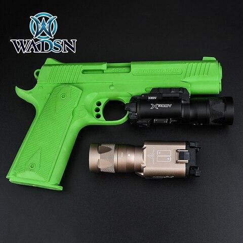 wadsn lanterna tatica x300 x300v vampiro led luz estroboscopica airsoft handgun scout lampada pistola lanternas