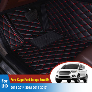 Car Floor Mats For Ford Kuga Escape Facelift 2018 2017 2016 2015 2014 2013 Rugs Dash Mats Auto Interior Accessories Custom(China)