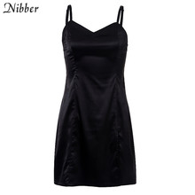 Nibber 2019 summer black basic short loose dresses womens street casual leisure vacation dresses Harajuku Slim mini dreess mujer