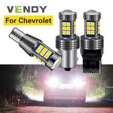 цена на 1pcs Car LED Reverse Light Backup Lamp W16W T15 7440 P21W BA15S For Chevrolet Cruze Aveo Lacetti Captiva Spark Niva Orlando Aveo