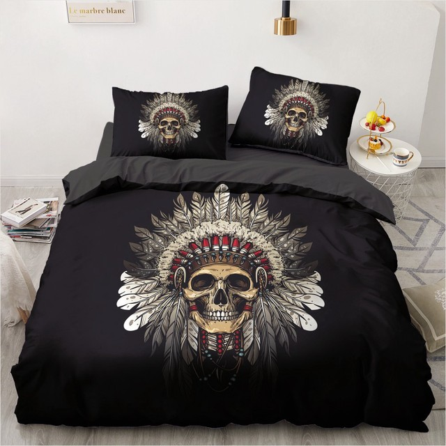 3 NY CT SKULL BEDDING SETS