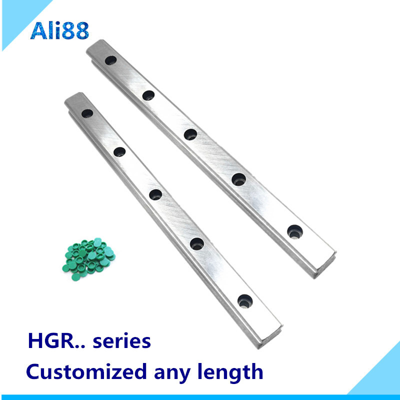 2pc linear rail HGR20 /HGR15/HGR25/HGR30/HGR35/HGR45 linear track Can be used with HIWIN slider trolley linear block cnc rail