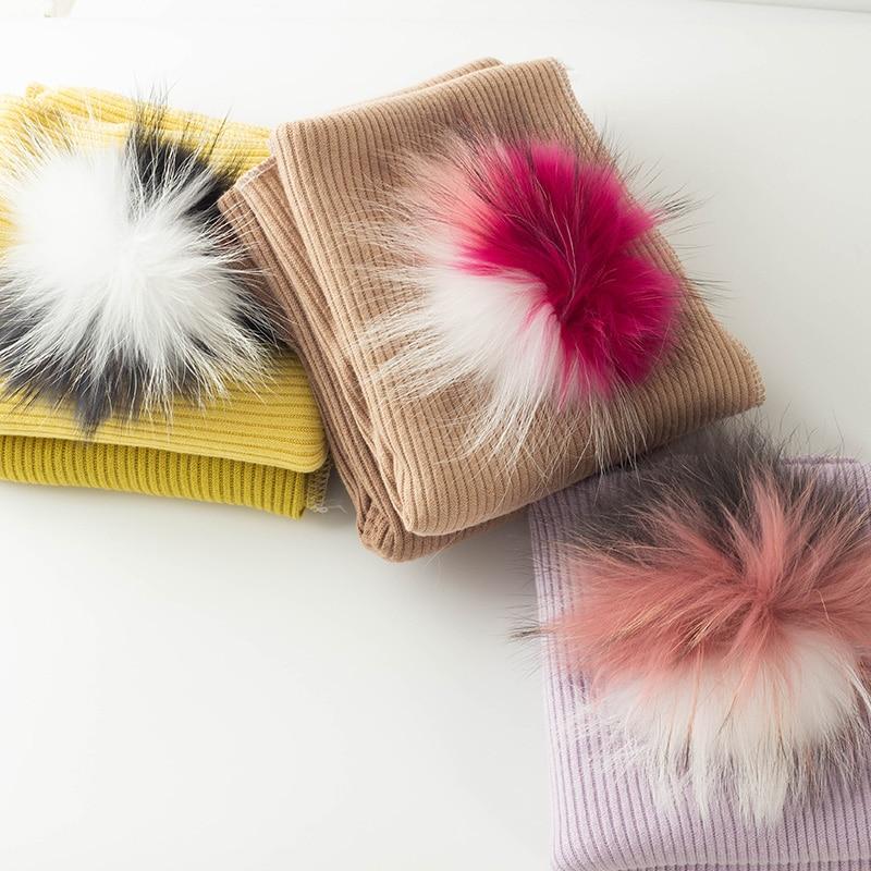 Newborn Soft With 5 Real triple color Pompom Baby Warm Blanket Boys Fashion Travel Ribbed Girls Cute Casual Bedding Sleepsack