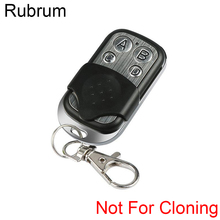 Rubrum 433 mhz Universal Wireless RF Remote Control Electric Gate Key Fob Learning Code Garage Door Controller Included Battery