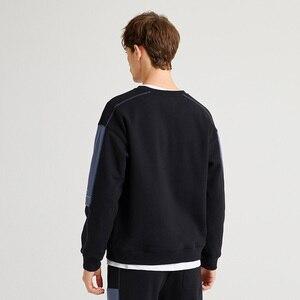 Image 4 - Pioneer Camp grube bluzy dla mężczyzn O neck ciepły polar moda Streetwear czarne bluzy dla mężczyzn AWY905051