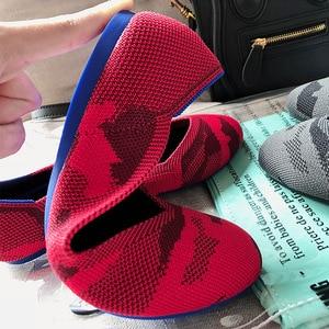 Image 4 - 여성 플랫 슈즈 Zapatos De Mujer 가을 2019 라운드 플랫 슈즈 로퍼 발레리나 Femme Tenis Feminino 캐주얼 블랙 레이디스