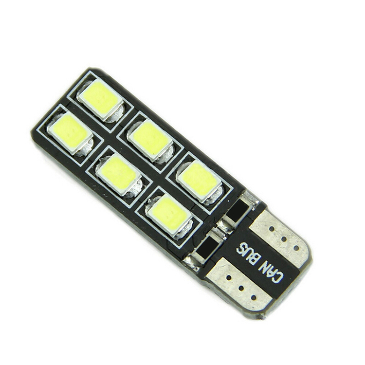 Lights Bulbs Universa New T10 W5W LED Cantus <font><b>12</b></font> <font><b>SMD</b></font> <font><b>2835</b></font> Source DC 12V Clearance Power image