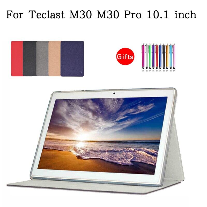 Funda de cuero Pu con soporte para Teclast M30, M30 Pro, M30Pro, 10,1 pulgadas, funda protectora para tableta y PC