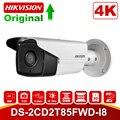 HIKvision 8MP IP Камера 4K на открытом воздухе DS-2CD2T85FWD-I8 8 мегапиксельная сетевой безопасности Пуля IP Камера s PoE Встроенный слот для SD карты