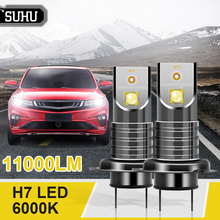 SUHU 2Pcs H7 110W LED Headlight Canbus Error Free Lamp 11000LM 6000K White Mini Fog Lights Bulb High Power Car Head Lights Bulbs