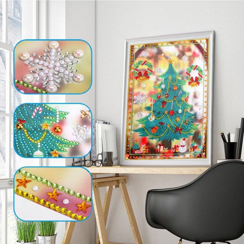Criativo bonito brilhando cheistmas árvore pintura diamante natal festival festa em casa superumarketing decoração de festa