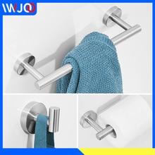 цена на Towel Bar Set Stainless Steel Toilet Paper Holder Creative Towel Rack Hanging Holder Wall Mounted Bathroom Robe Hook Coat Rack
