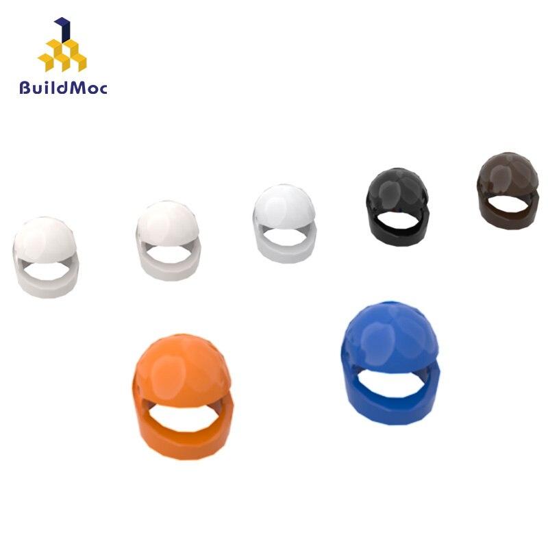 Buildmoc 30124 capacete padrão ldd 30124 para blocos de construção peças diy construção presente criativo para