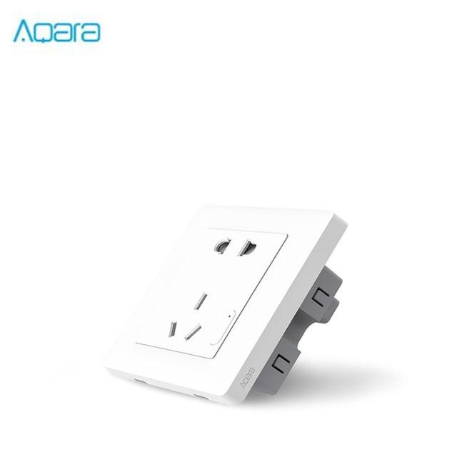 الأصلي Aqara الذكية التحكم في الضوء زيجبي الجدار التبديل المقبس التوصيل الهاتف الذكي ل شاومي APP اللاسلكية عن بعد المنزل الذكي جهاز