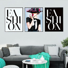 3 panel Nordic wall art female fashion letter painting poster HD printing canvas wedding room home decoration