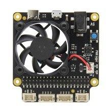 راسبيري Pi X735 سلامة اغلاق إدارة الطاقة ولوحة تبريد السيارات لراسبيري Pi 4 نموذج B/3B + (زائد) /3B / 2B +