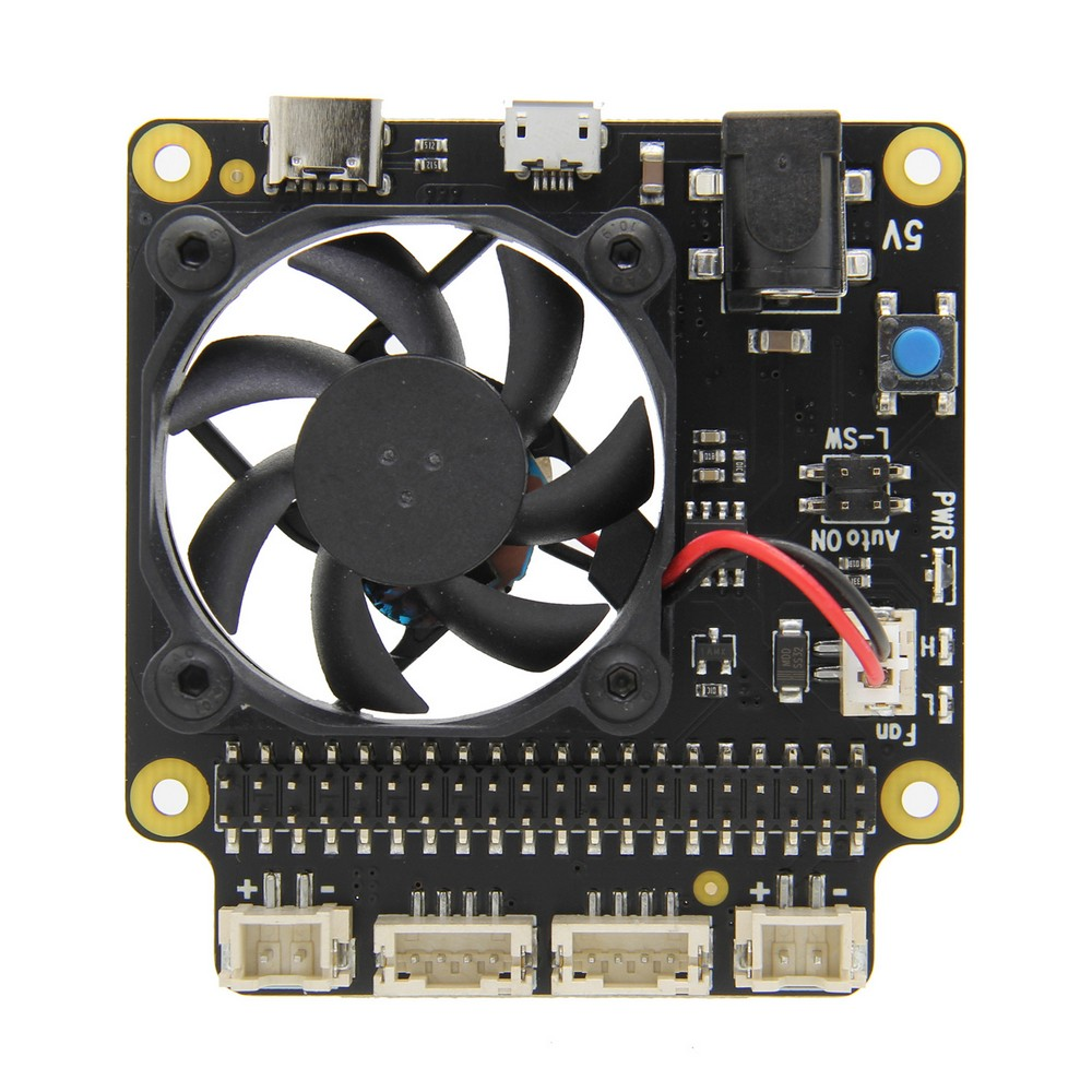 Raspberry Pi X735 Safety Shutdown Power Management & Auto Cooling Board For Raspberry Pi 4 Model B/3B+(plus) /3B / 2B+