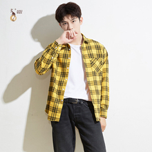 Aoliwen 2019 brand men palid shirt long sleeve button down casual shirts high quality fashion spring autumn clothes slim fit