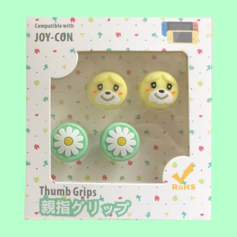 4pcs Cute Cat Paw Claw For Nintendo Switch Lite Bear Flower Animal Crossing Analog Thumb Grip Joystick Thumb Grip Cover Case