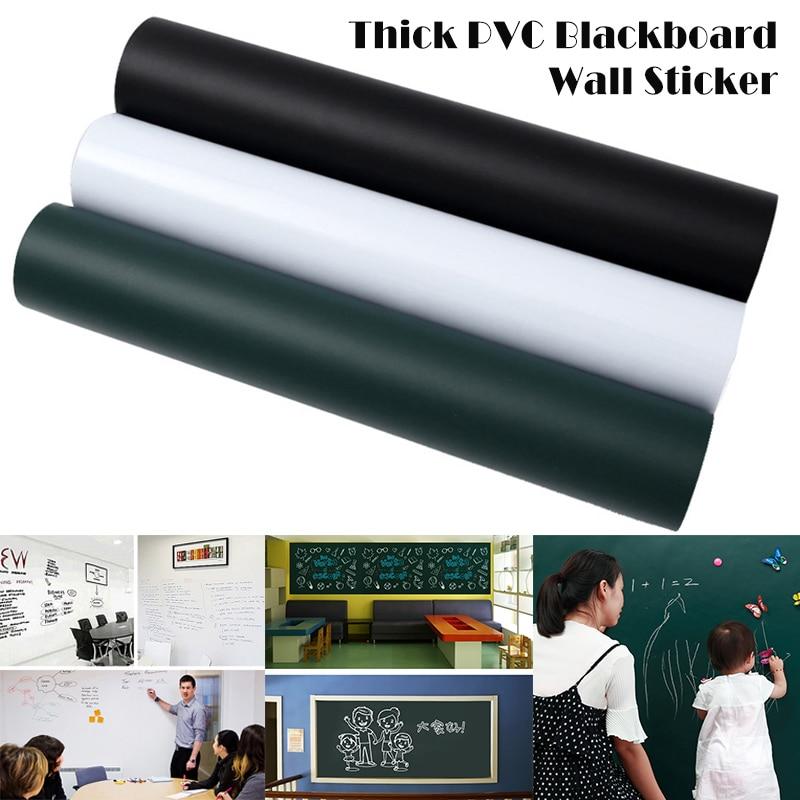 PVC Blackboard Wall Sticker Removable Self Adhesive Chalkboard With Chalks  JLRJ88