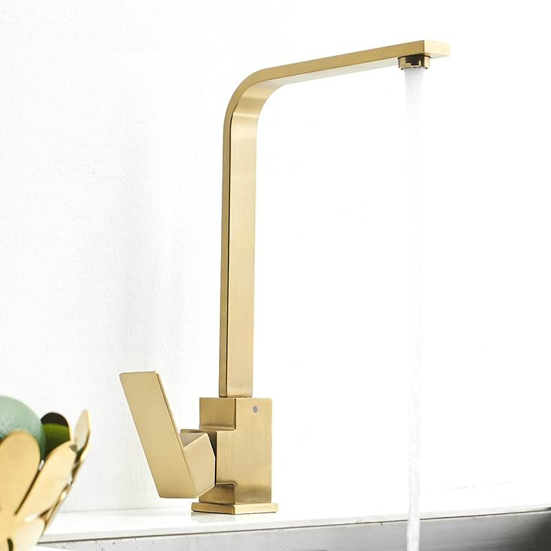 MTTUZK Brass Kitchen Faucet Rose Gold / Chrome /ORB/ Brushed Gold  Sink Faucet Hot And Cold Mixer Taps Square Faucet