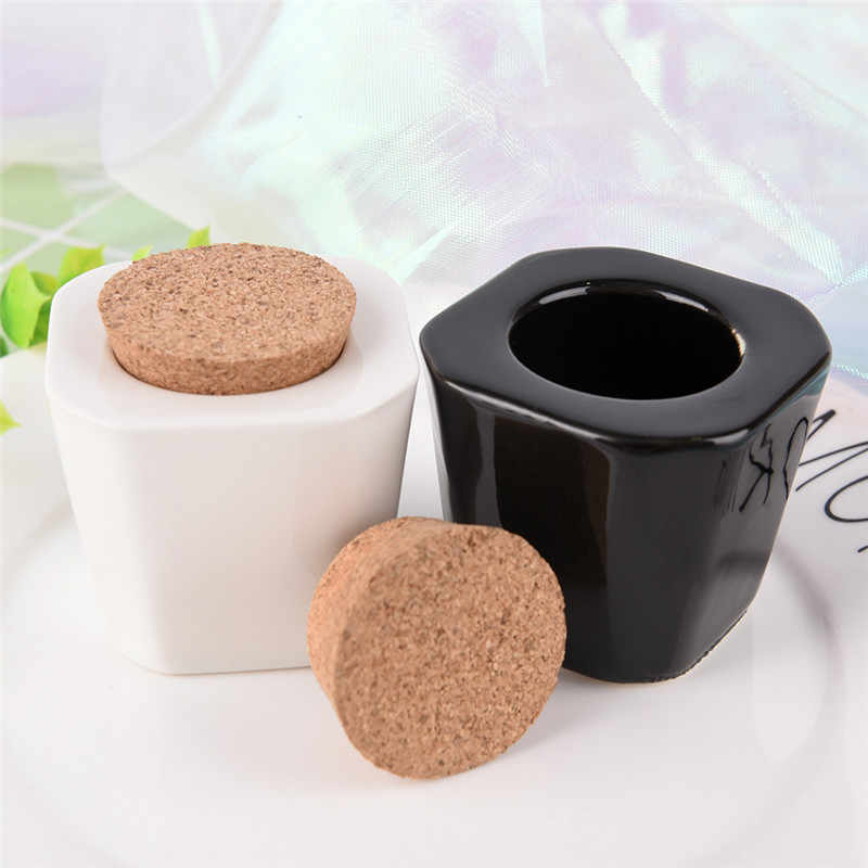 1pcs/lot Porcelain Material White/black Color Nail Art Acrylic Glass Dappen Dish Liquid Powder Container