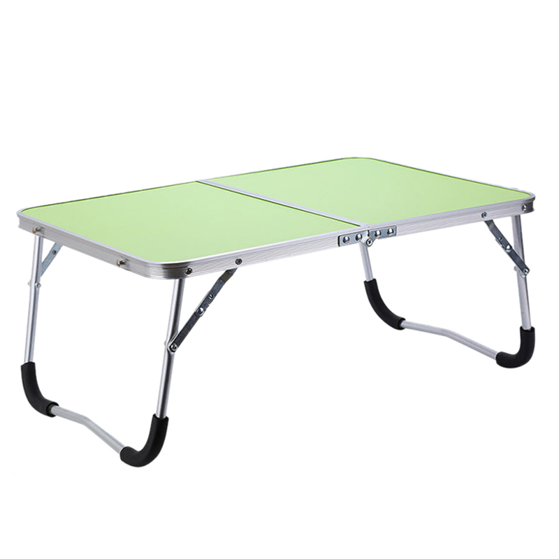 Adjustable Portable Laptop Table Stand Folding Computer Reading Desk Bed Tray, Green