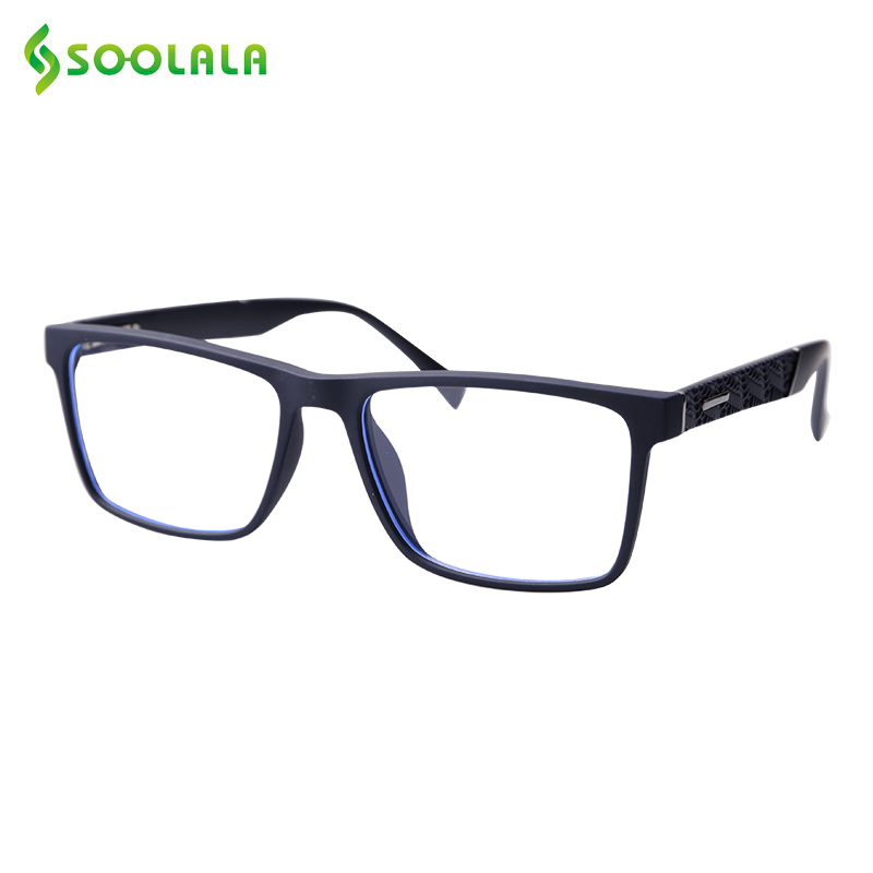 SOOLALA TR90 Reading Glasses Women Men Eyeglass Frame Flexible Anti Fatigue Computer Presbyopia Reading Glasses 0.5 To 4.5 5.0