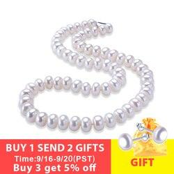 LINDO Erstaunliche preis AAAA hohe qualität natürliche süßwasser perle halskette für frauen 3 farben 8-9mm perle schmuck 45cm