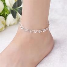 Женский ножной браслет из стерлингового серебра 925 пробы, подарочные украшения на ногу и лодыжку, 1B102