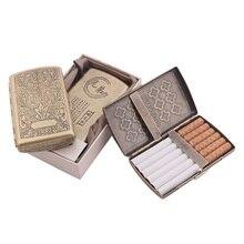 Контейнер 12 шт. сигареты чехол для курительных сигарет коробка с двумя Клип держатель для табака карманная коробочка для хранения с подароч...
