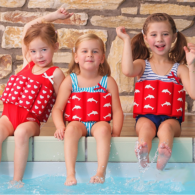 Swimsuit Kids Baby Clothes Floating Swimwear Buoyancy Vest Swimsuit for Girls Boys Life Jacket One-piece