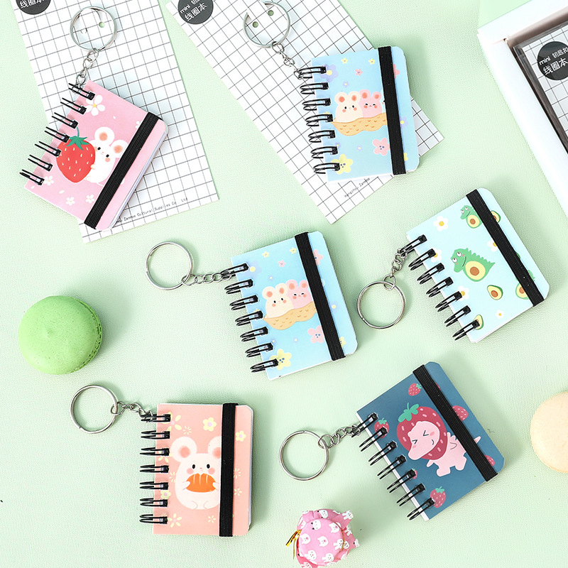 New Creative Notepad Keychain Can Open The Keychain To Write Fun Cartoon Mobile Phone Bag Car Pendant Can Open The Key Ring