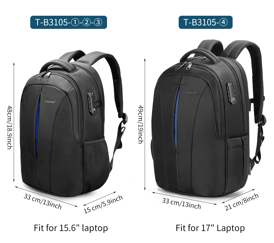 Waterproof 15.6inch Laptop Travel Backpack 14