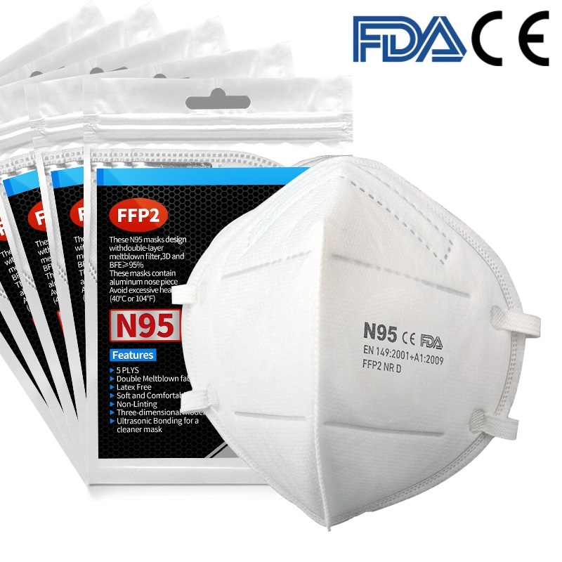 100PCS Face Masks 6 Laye Mask Dust Protection Masks 95% Filter Face Masks Elastic Ear Loop Dust Filter Safety Mask Anti-Dust