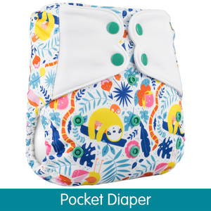Elfdiaper Nappy Cloth Swimming-Pant Pocket-Stay Washable Newborn New-Arrival Dry