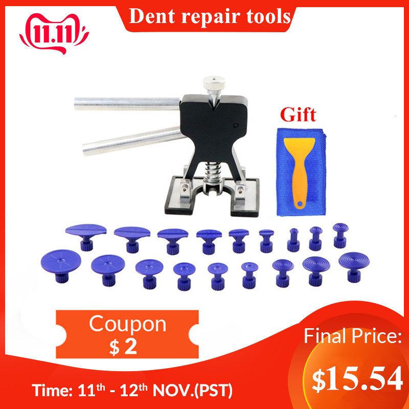 PDR Tools Paintless Dent Repair Tools Set PDR Dent Lifter PDR Glue Tabs Auto Body Dent Removal Tools Car Dent Removal Free Gift