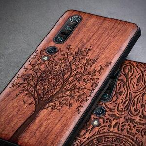 Image 2 - Luxo novo para xiao mi 10 caso de madeira fina capa traseira tpu pára choques caso em xiao mi 10 pro xio mi 10 casos de telefone