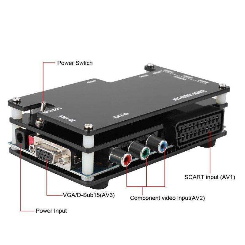 Kit de convertisseur HDMI OSSC pour Consoles de jeux rétro PS1 2 Sega Atari Nintendo, prise américaine ajouter adaptateur ue - 3